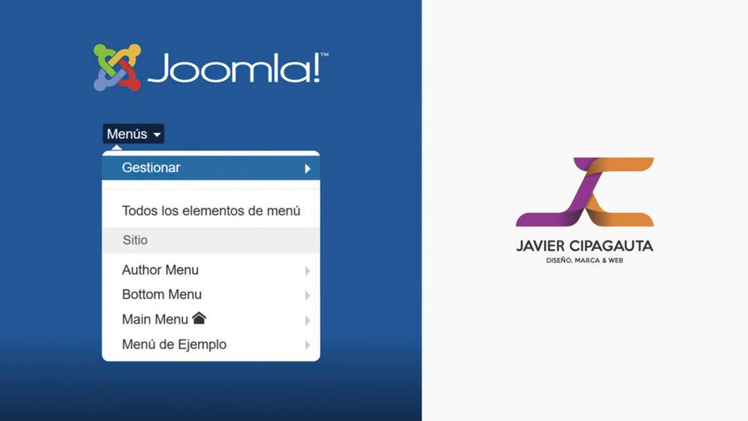 Menus Joomla!, Panel de Administración