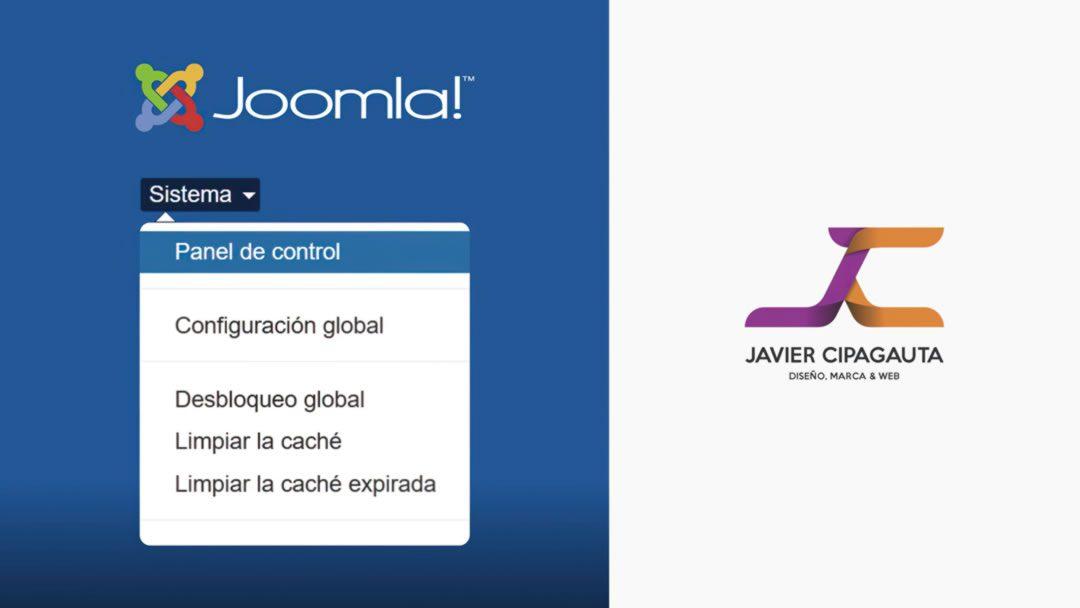 Sistema Joomla!, Panel de administración.